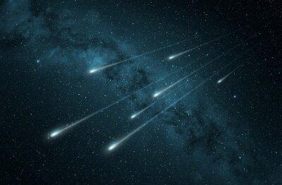 Adesivo pioggia di meteore nel cielo stellato