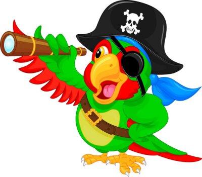 Adesivo pirata del fumetto pappagallo