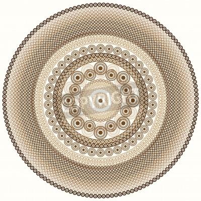 Adesivo Pittoresco progetto mandala Henna