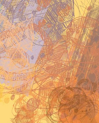 Adesivo Pittura astratta su tela. Arte fatta a mano Trama colorata Opere d'arte moderna Colpi di pittura adiposa. Tratti di pennello. Arte contemporanea. Immagine di sfondo artistico.