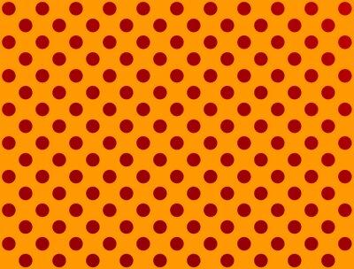 Adesivo pois rosso su sfondo arancione