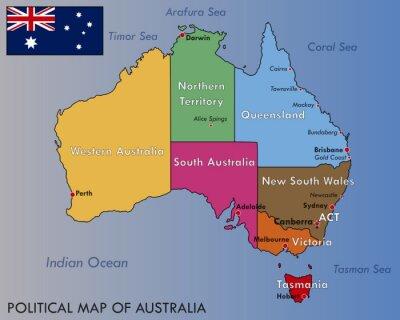 Adesivo Politica Mappa di Australia