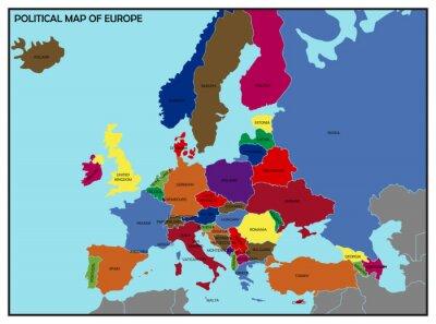 Adesivo Political Map of Europe