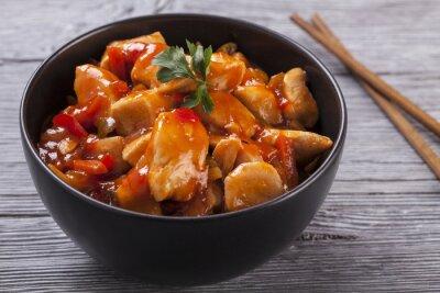Adesivo Pollo cinese salsa agrodolce