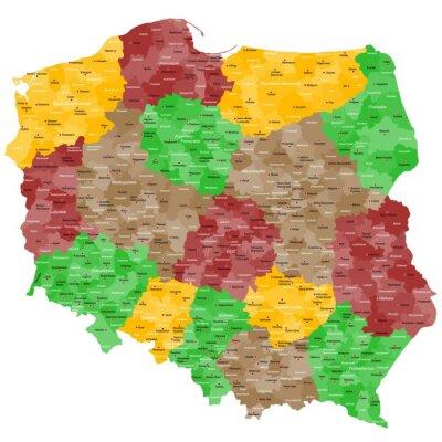 Adesivo Polonia Mappa in dettaglio