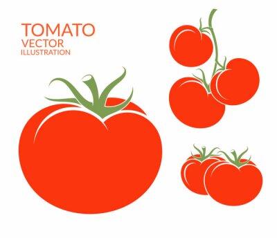 Adesivo Pomodoro. verdure isolato su sfondo bianco