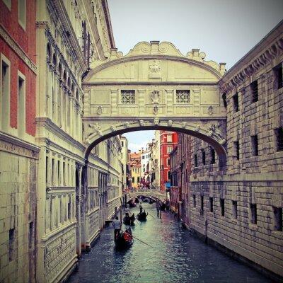 Adesivo Ponte dei Sospiri a Venezia con gondole