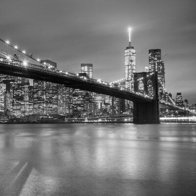 Adesivo Ponte di Brooklyn al tramonto, New York City.