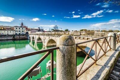 Adesivo Ponte di Tiberio a Rimini