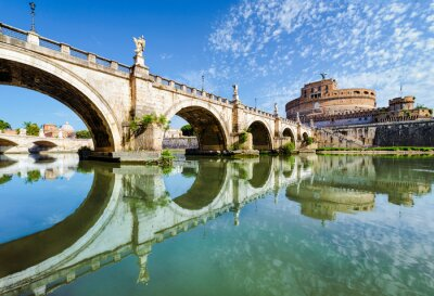 Adesivo Ponte e il castello di Sant Angelo, Roma