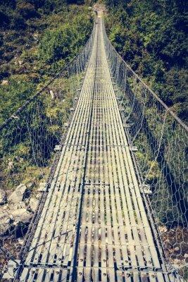 Adesivo ponte sospeso di metallo.