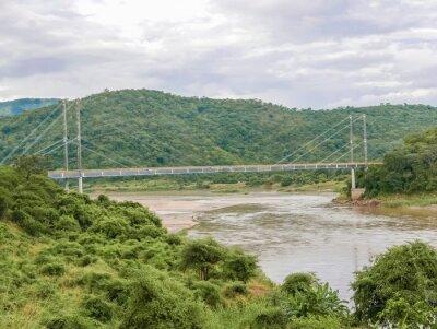 Adesivo Ponte sul fiume Luangwa in Zambia