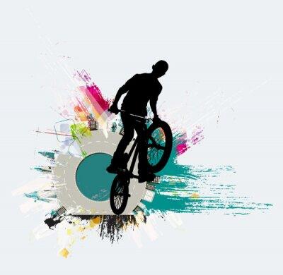 Adesivo Ponticello della bicicletta, priorità bassa di sport