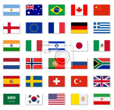 Adesivo Popular Flag Collection