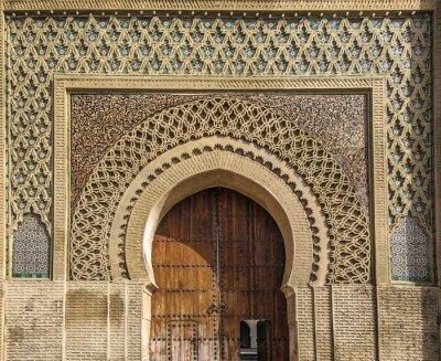 Adesivo porte antiche a Meknes, in Marocco