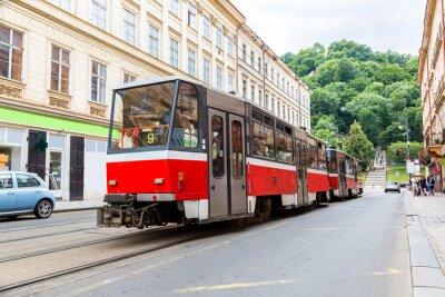Adesivo Praga dettaglio Tram rosso, Repubblica Ceca