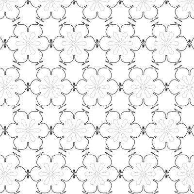 Adesivo Primitive semplice grigio retrò senza soluzione di modello