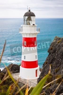 Adesivo Primo piano di un bel faro a Cape Palliser, North Island, Nuova Zelanda