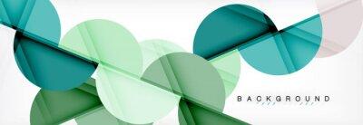 Adesivo Priorità bassa astratta geometrica moderna - cerchi. Modello di progettazione di presentazione aziendale o tecnologia, modello di brochure o flyer, o banner web geometrica