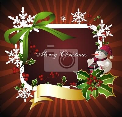 Adesivi Buon Natale.Adesivo Priorita Bassa Di Buon Natale Con Il Pupazzo Di Neve