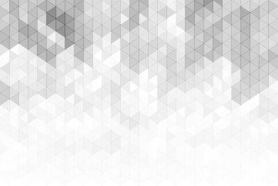 Adesivo Priorità bassa geometrica astratta con forme di triangolo di tono di colore grigio e bianco.