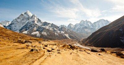 Adesivo profonda valle in montagne dell'Himalaya