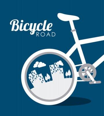 Adesivo Progettazione Bike, illustrazione vettoriale.