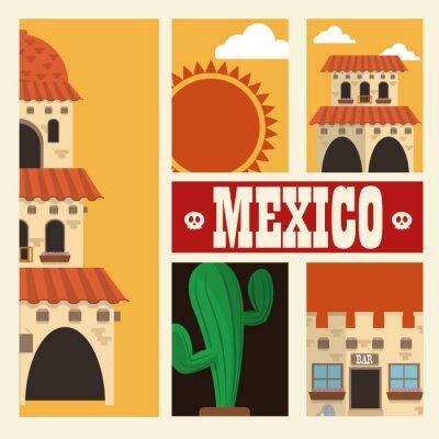 Adesivo progettazione cultura messicana