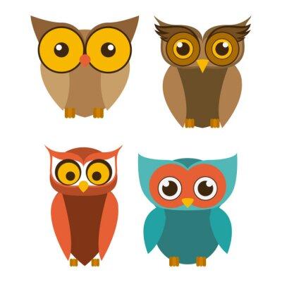 Adesivo Progettazione Uccello, illustrazione vettoriale.