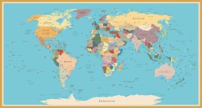 Adesivo Programma di mondo dell'annata