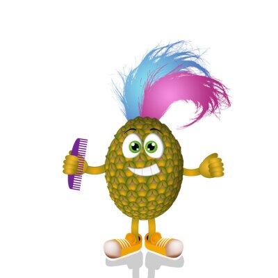 Adesivo Punk Divertente ananas