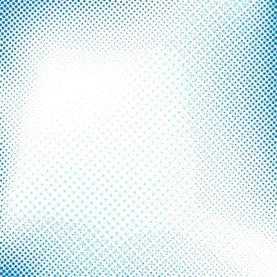 Adesivo Punteggiata blu retrò sfondo astratto