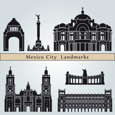 Adesivo Punti di riferimento di Città del Messico e monumenti