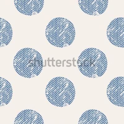 Adesivo puntini / modello senza cuciture di vettore disegnato a mano / moda / uccelli / può essere utilizzato per la progettazione di camicie per bambini o per bambini / design di stampa di moda / grafica di