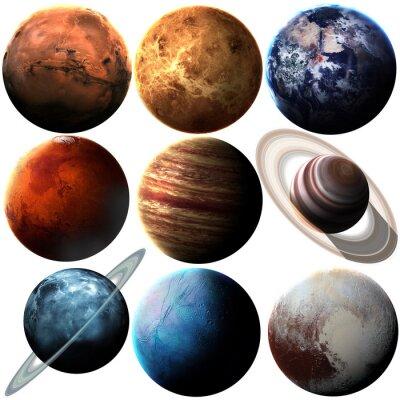 Adesivo qualità Hight isolato pianeti del sistema solare. Elementi di questa immagine fornita dalla NASA