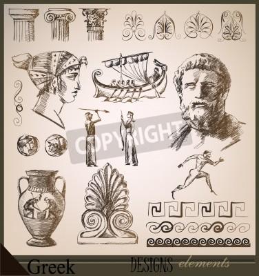 Adesivo raccolta di elementi di design Roma antica