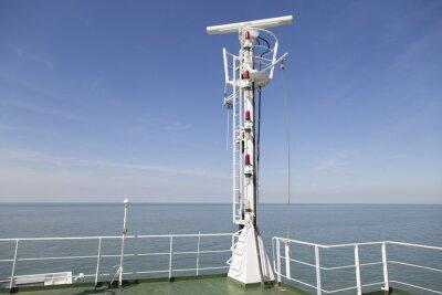 Adesivo Radar albero sul ponte superiore di una nave da carico