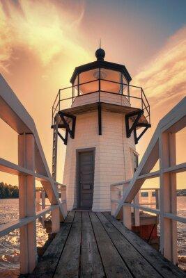 Adesivo Raddoppio Point Lighthouse in Maine, Stati Uniti d'America