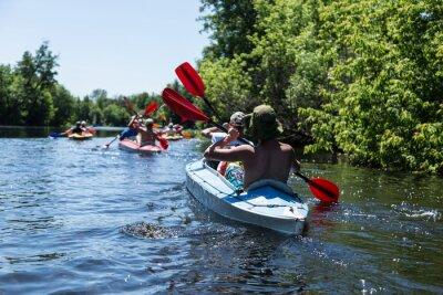 Adesivo Rafting sul fiume Vorskla.
