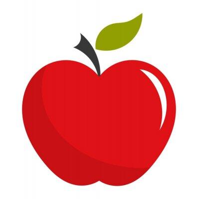 Adesivo Red apple illustration