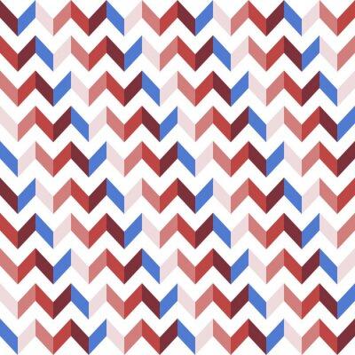 Adesivo Red Chevron Seamless Pattern