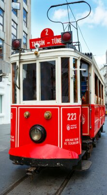 Adesivo Red retro del tram su Taksim Istiklal