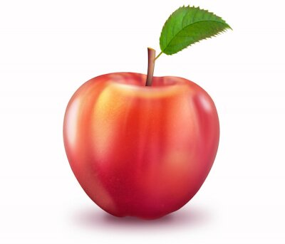 Adesivo Reifer Apfel, freigestellt