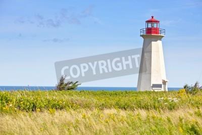 Adesivo Relitto nave Point Lighthouse nelle zone rurali del Prince Edward Islanda, Canada.