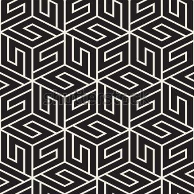Adesivo Reticolo di reticolo senza giunte di vettore. Texture moderna ed elegante con traliccio monocromatico. Ripetendo la griglia geometrica. Design semplice sullo sfondo.