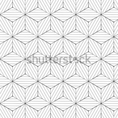 Adesivo Reticolo geometrico in bianco e nero, vettore della priorità bassa.