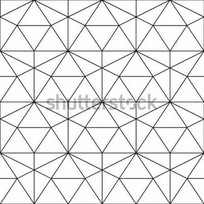 Adesivo Reticolo senza giunte Sfondo geometrico con rombo e nodi. Motivo geometrico astratto Trama grigia. Motivo geometrico senza soluzione di continuità