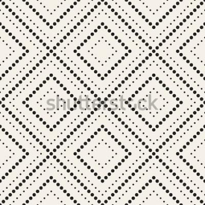 Adesivo Reticolo senza giunte Texture moderna ed elegante. Ripetendo le piastrelle geometriche con rombo punteggiato