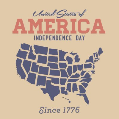 Adesivo Retro Independence Day Sign