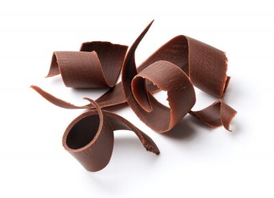 Adesivo riccioli di cioccolato fondente